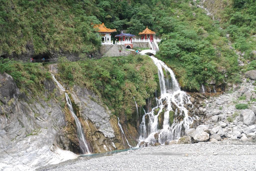 Vandfald og kilde ved Taroko,Taiwan
